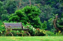 Metal garden chair Stock Images