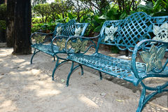 Metal garden chair Royalty Free Stock Photos
