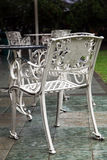 Metal garden chairs Royalty Free Stock Photo