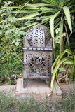 Metal garden lantern Royalty Free Stock Photo