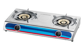 A metal gas stove Royalty Free Stock Photo