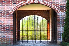 Metal gate Stock Photography
