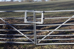 Metal gate Stock Images