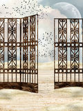 Metal gate Royalty Free Stock Photos