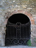 Metal gate at castle Stock Image