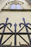 Metal gate in a church Royalty Free Stock Images
