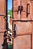 Metal gate closed Royalty Free Stock Photo