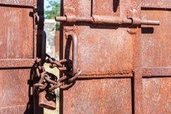 Metal gate closed Royalty Free Stock Photos