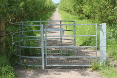 Metal Gate. Royalty Free Stock Images