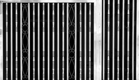 Metal Gate Detail, Black and White Royalty Free Stock Photo