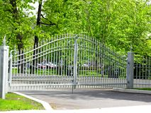 Metal gate and fence Stock Images