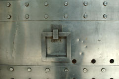 Metal gate with handle Stock Images