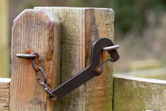 Metal gate latch Stock Photography
