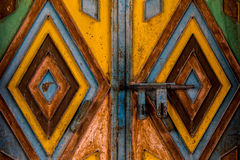 Metal Gate in Oman. A metal gate inside the historic Nizwa traditional market in Oman Royalty Free Stock Images