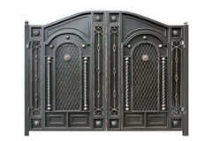 Metal  gate  with ornament. Stock Image