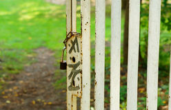 Metal gate Royalty Free Stock Photo