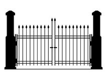 Metal gate vector illustration Royalty Free Stock Photography