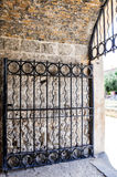 Metal Gate in the Whaler's Tunnel: Fremantle, Western Australia royalty free stock photo