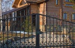 Metal gates. Stock Photos