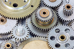 Metal gear cogwheels for machinery and equipment Stock Photos