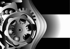 Metal Gear Design. Illustration design of metallic gears Stock Photography