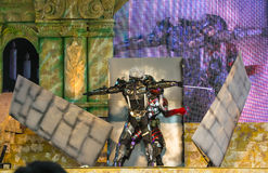 Metal Gear Rising performance in Oishi World Cosplay Fantastic 7 Royalty Free Stock Images
