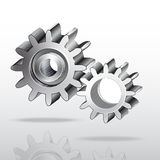 Metal gear wheel. Vector. Image Royalty Free Stock Image