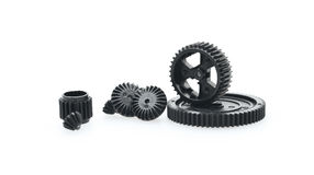 Metal gear wheels Stock Images