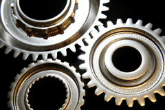 Metal gear wheels royalty free stock images