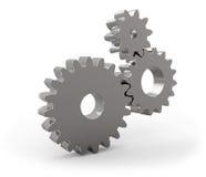 Metal gear wheels set. On white background Stock Photos