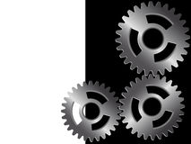 Metal gears. Background - metal gears of the mechanism in a vector Royalty Free Stock Images