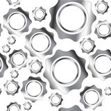 Metal gears abstract seamless vector background Royalty Free Stock Photography