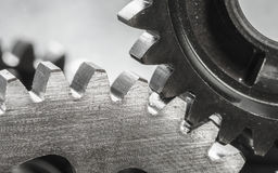 Metal Gears close up Royalty Free Stock Images