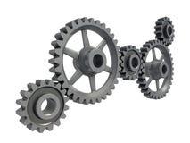 Metal gears closeup Royalty Free Stock Image