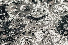 Metal gears and cogwheels Background. Gears and cogwheels Royalty Free Stock Photos