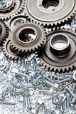 Loose steel parts Stock Photography