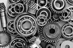 Metal gears. Nuts and bolts Royalty Free Stock Photo