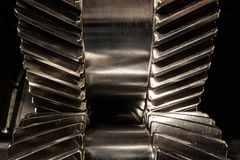 Metal gears. Part of the gear wheel of the engine Stock Photo