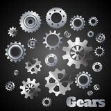 Metal gears poster Royalty Free Stock Images