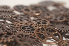 Metal gears wheels. On white background Stock Image