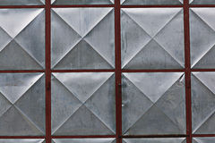 Metal geometric surface texture Stock Image