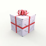 Metal Gift Box Stock Photo