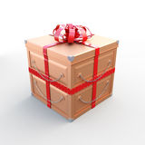 Metal Gift Box Royalty Free Stock Images