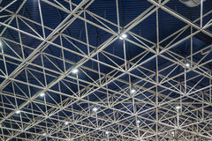 Metal girder extensive scaffolding providing platforms for stage structure support Royalty Free Stock Image