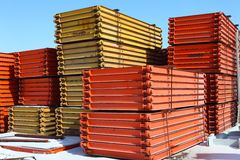 Metal girder in group Stock Image