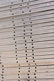 Metal girder in group from side Stock Photos