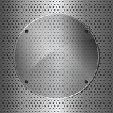 Metal and glass circle Royalty Free Stock Photography