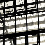 Metal and glass construction Royalty Free Stock Photography