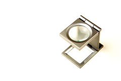 Metal glass loupe Stock Images