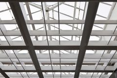 The metal and glass roof Stock Photos